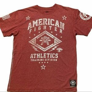 AMERICAN FIGHTER graphic t-shirt tee large